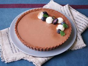 チョコレートレアチーズケーキ
