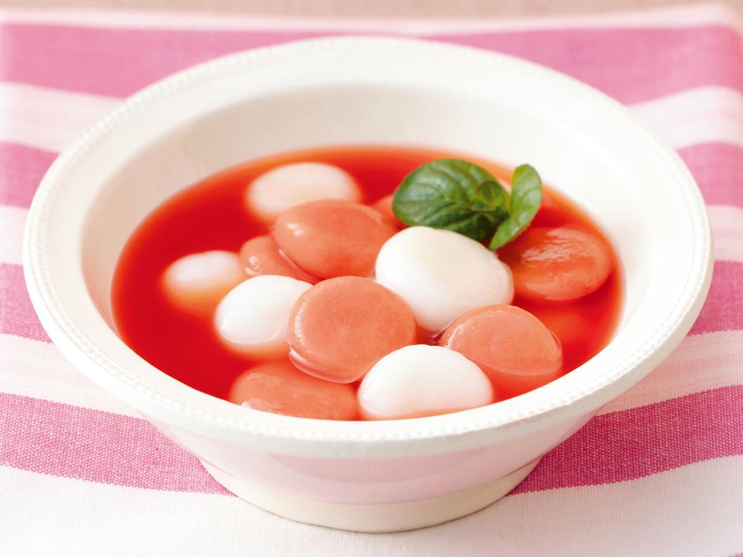 紅白白玉~トマトシロップで~