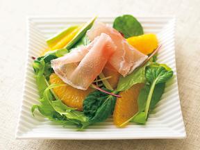 オレンジと生ハムのサラダ