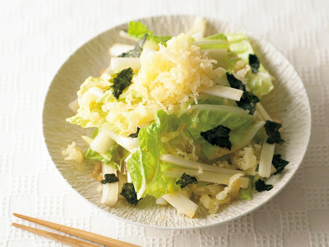白菜と揚げ玉のサラダ