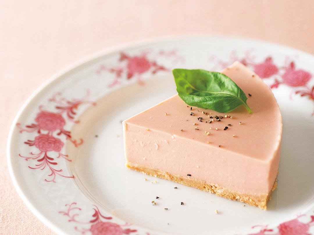 トマトビネガーレアチーズケーキ