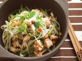 わけぎと大根と鶏肉のしゃきしゃきサラダ