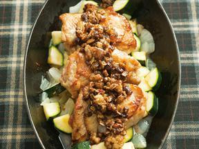 チキンのフルグラ&バルサミコソース